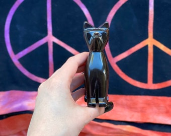 """4"""" Black OBSIDIAN Cat (B)"""