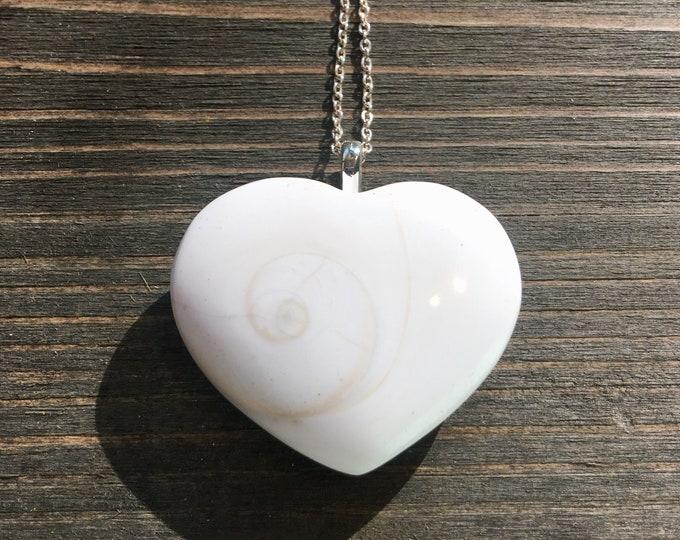 Shiva Eye Shell Heart Necklace
