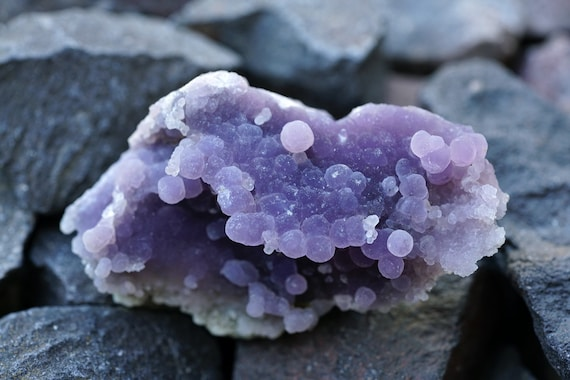 RESERVED FOR LISA - Grape Agate, Botryoidal Purple Chalcedony