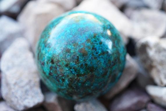 "2.1"" Chrysocolla Sphere"