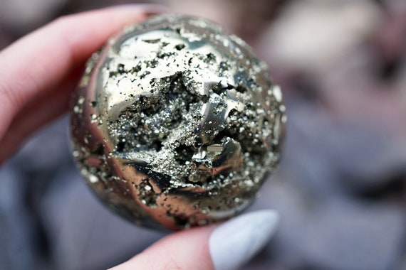 """2.1"""" Peruvian Pyrite Sphere"""
