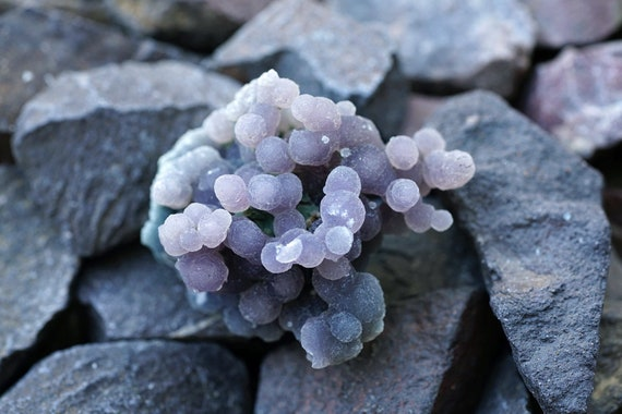 Grape Agate, Botryoidal Purple Chalcedony