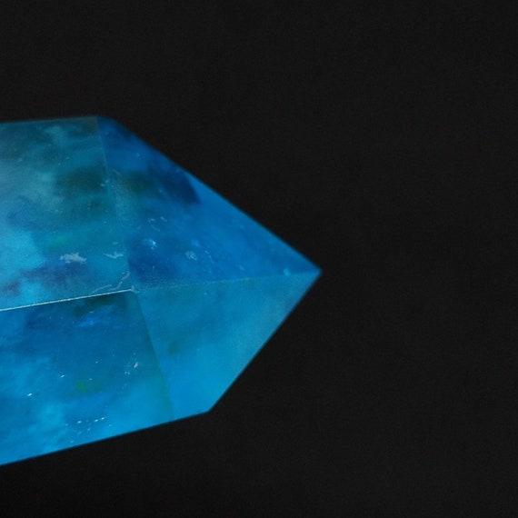 """1.4"""" Blue Aqua Aura Quartz Point"""