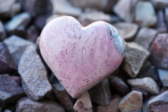 Rhodochrosite Heart