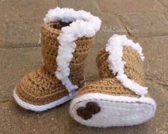 Baby Uggs Crochet Baby Bootie Pattern #1 Winter booties