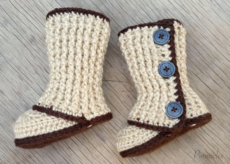 Crochet Baby Booties Pattern 2 Photo Prop Etsy