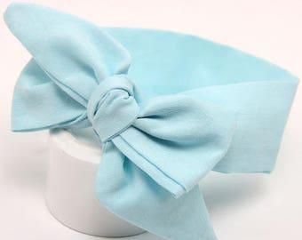 Light Blue Baby Headband / Headwrap