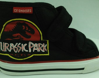 Custom hand painted Jurassic Park shoes 63db4ed4a645