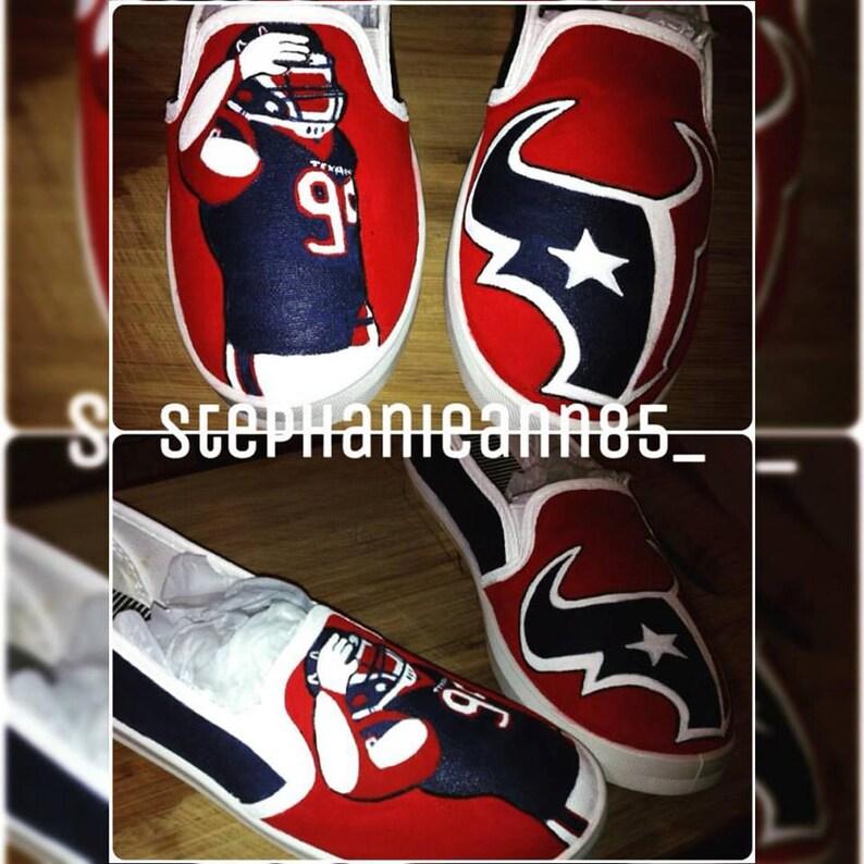 a89c9da49382 Custom Hand Painted Houston Texans Shoes
