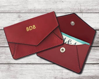 fa9211fdccf6 Personalized Leather Card Holder