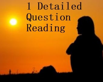 DETAILED Psychic 1 Question Psychic Reading