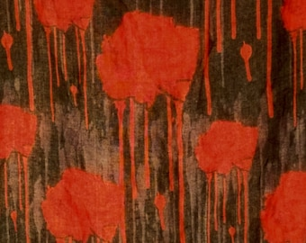 Dripping Blood Rose Square Scarf