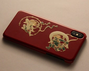 Japanese traditional Jewelry Box Gold lacquer makie Fuujin-Raijin
