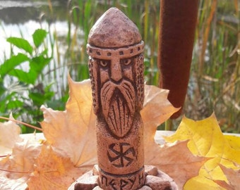 Small Handcrafted Statue of Perun the Thunder Bringer