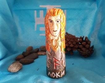 Small Handmade Color Figurine of Loki