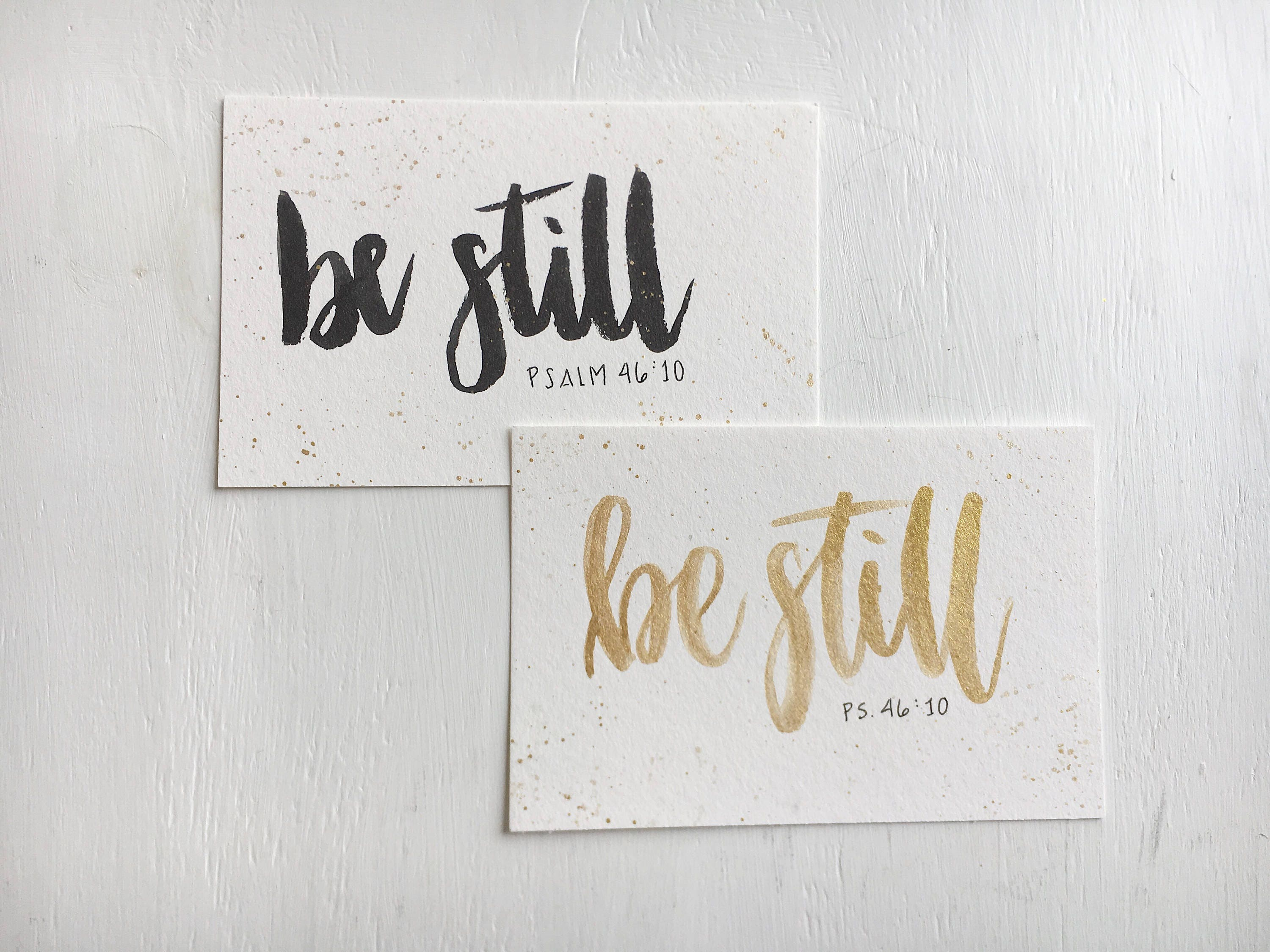 Be Still Card Hand Lettered Greeting Card Etsy