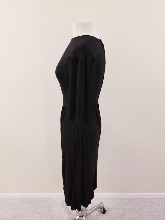 SALE - 60's Vintage Gina Fratini Black Rayon Dres… - image 4