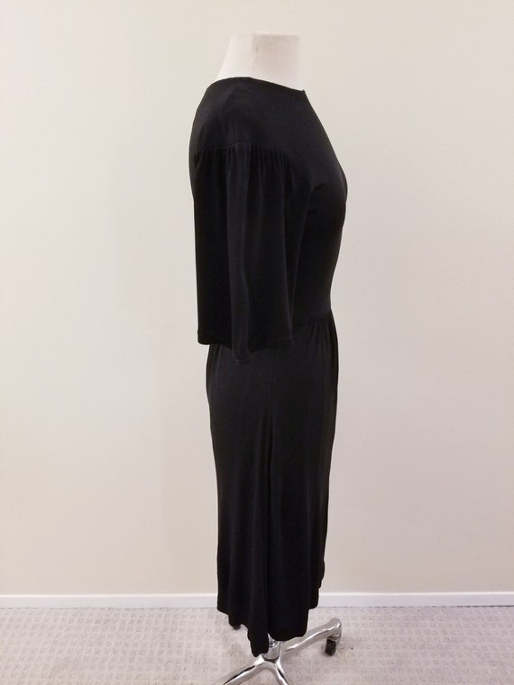 SALE - 60's Vintage Gina Fratini Black Rayon Dres… - image 6