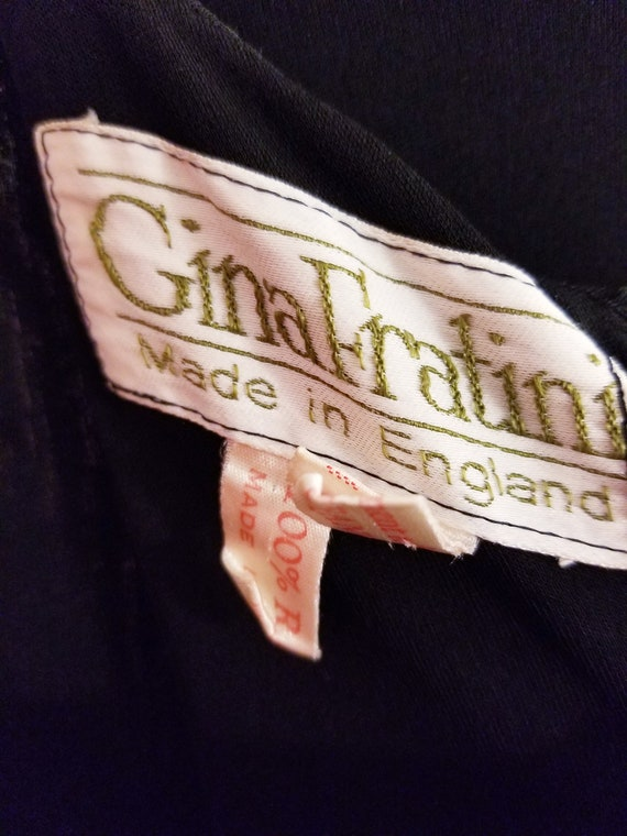 SALE - 60's Vintage Gina Fratini Black Rayon Dres… - image 3