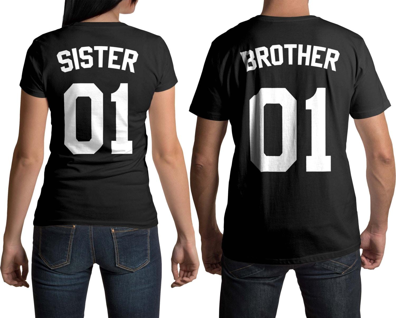 Bruder Schwester Hemden großer Bruder Shirt große Schwester | Etsy