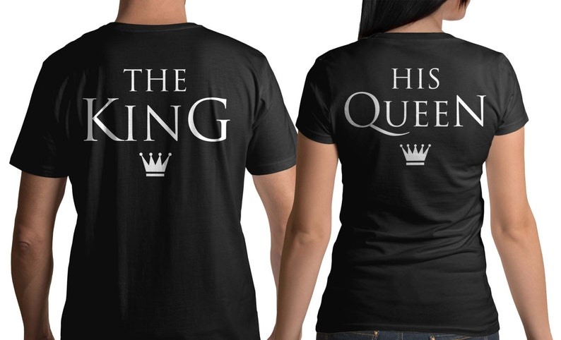 4faebd1ce5 The King & His Queen T-Shirts Couple tshirt couples shirt | Etsy