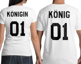 König Königin t shirts, königin tshirt, Paare Shirt, King and Queen shirts, Pärchen T-shirt, Shirts für Paare, Hemden für Paare, König shirt
