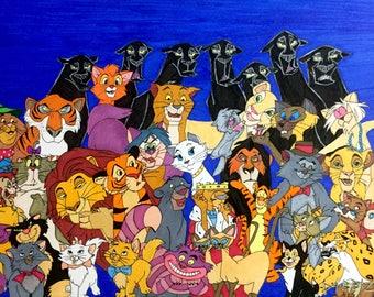 Disney Cats - Original Drawing