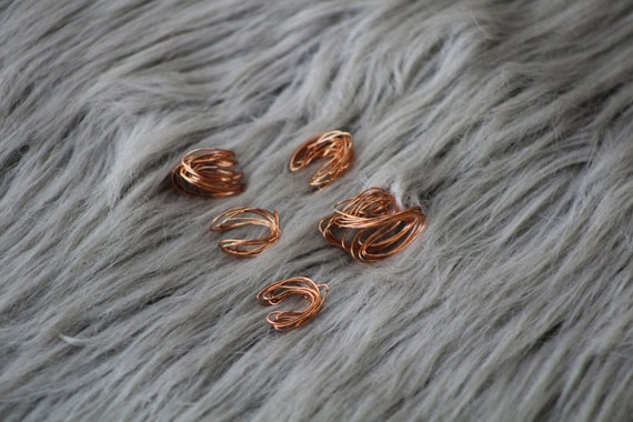 the copper tumbleweed // ear cuff