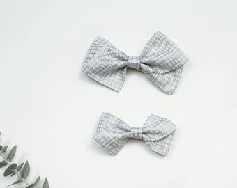 Silver Pinwheel Bow, Large Pinwheel Bow, Small Pinwheel Bow, Pinwheel Bow Headband, Pinwheel Bow Hair Clip, Fabric Bow