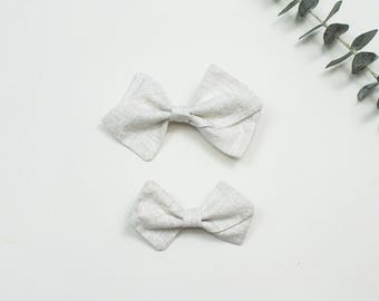 Cream Pinwheel Bow, Large Pinwheel Bow, Small Pinwheel Bow, Pinwheel Bow Headband, Pinwheel Bow Hair Clip, Fabric Bow