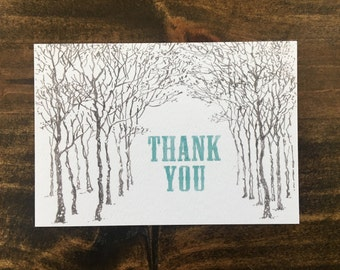 Woodland 'Thank You' cards -- set of 10 A1 cards + envelopes