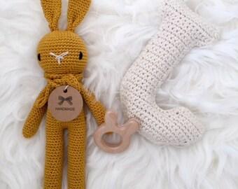 Ready to Ship! Crochet Rabbit Ochre yellow (small)