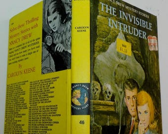 Nancy Drew #46 The Invisible Intruder PC white II endpapers