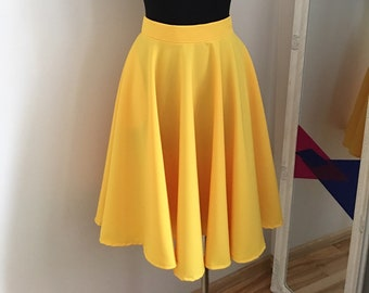 5485a13f6d Full circle yellow skirt. Free shipping