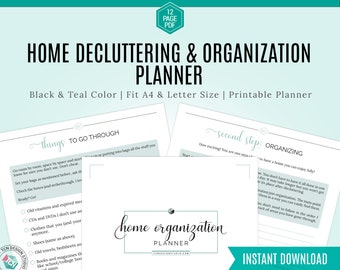 Declutter & Home Organization Printable, Printable Declutter Planner, Spring Cleaning, House Organizing, monthly Home declutter sheet