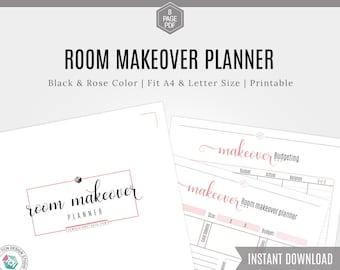 Room Design planner, Room Makeover planner, Printable Design Planner, Home Decor Planner, Room Makeover Project Planner, DIY Project Planner