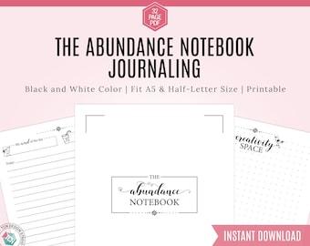 Bullet Journal Notebook, Gratitude Journal, Bullet Journal Template, Printable Bullet Journal, Printable Journal, Dotted Bullet Journal