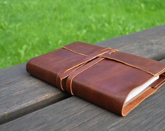leather book cover etsy