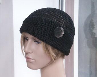 29e02fe6474 Linen boho summer hat