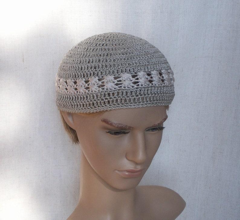 Skullcap Kufi Hats Linen Crochet Skull Hats Short Linen Etsy
