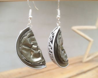 Earrings made of recycled Nespresso capsule