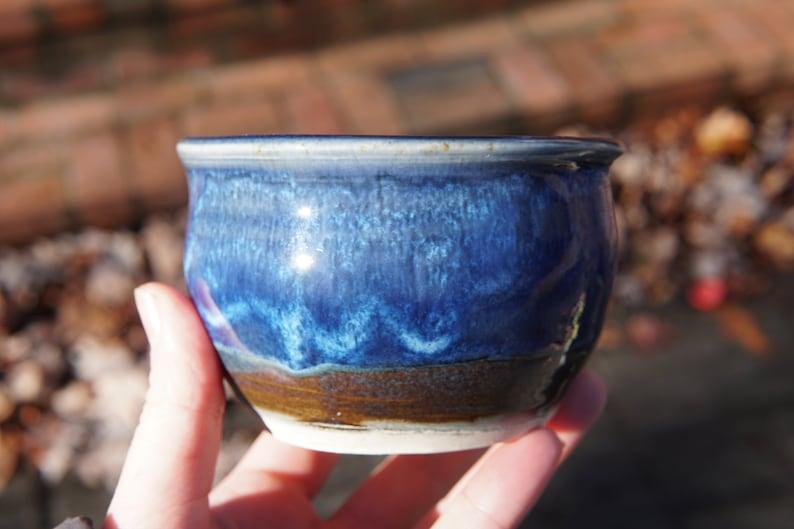 Bowl in Vivid Blue bright sea blue green ceramic plate bowl pottery
