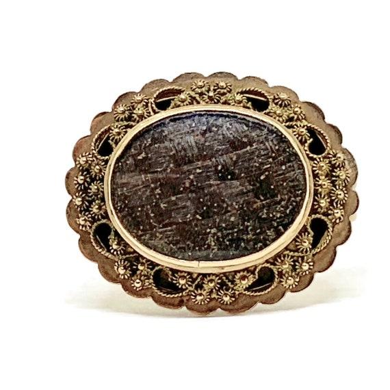 Victorian Mourning hair brooch. Zeeuwse knoop orna