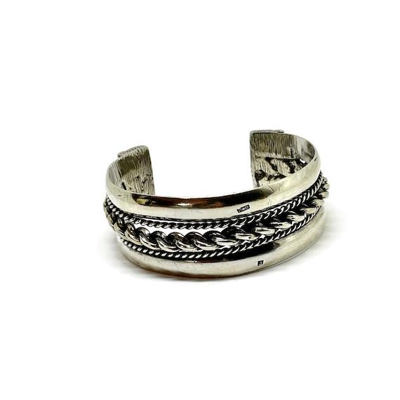 Egyptian cuff bracelet. Vintage Braided cuff brace