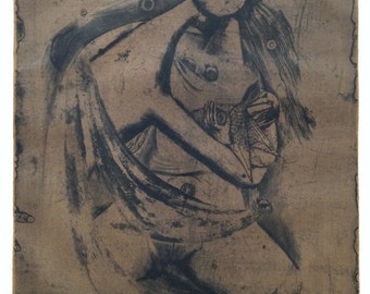 Johnny Friedlaender Aquatint Signed and Numbered