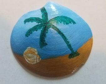 Atlantic ocean shell painting