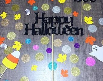 Happy Halloween Cake Topper/ Halloween Topper/ Happy Halloween Party Topper