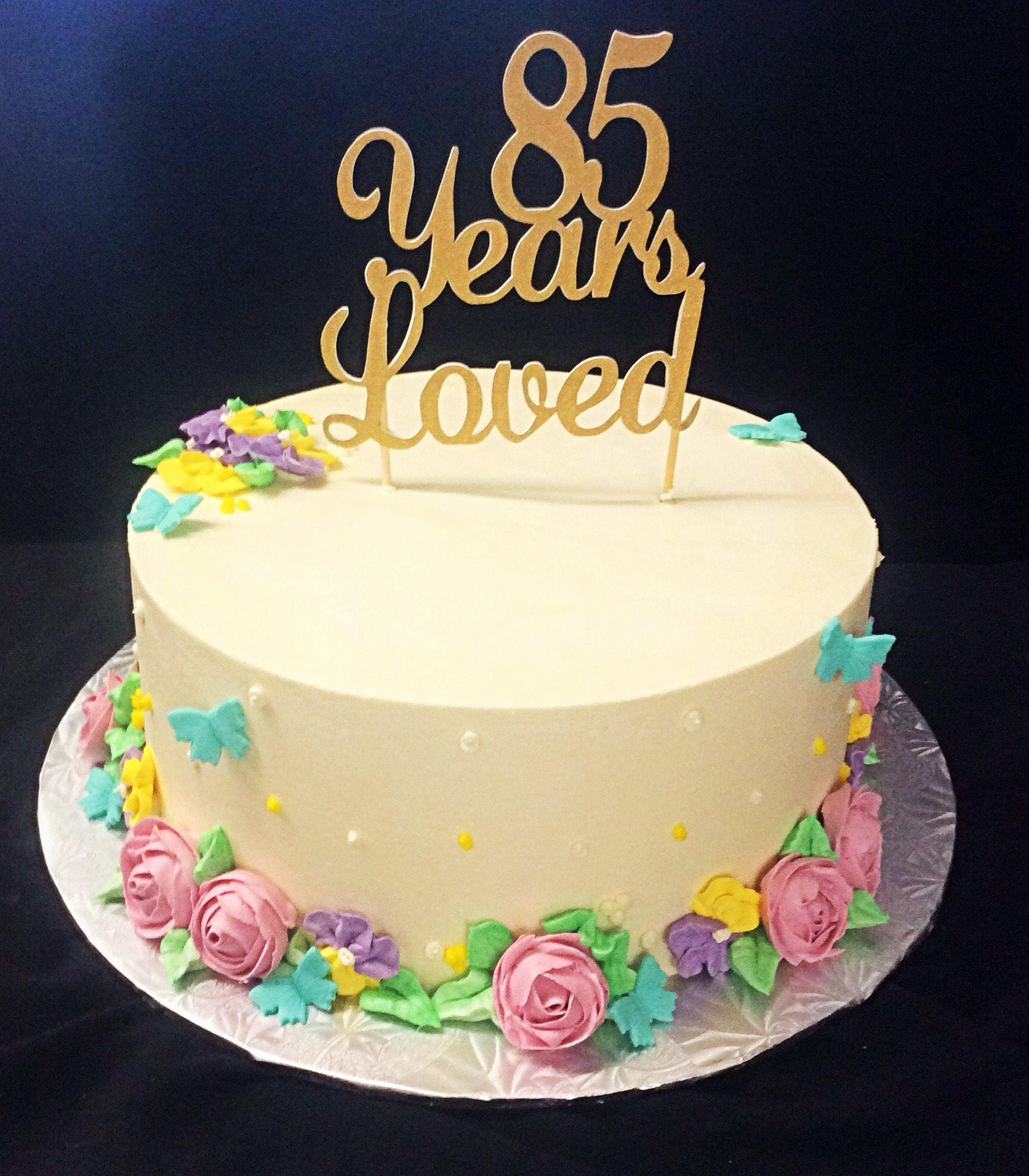 85 Years Loved Cake Topper 85th Birthday