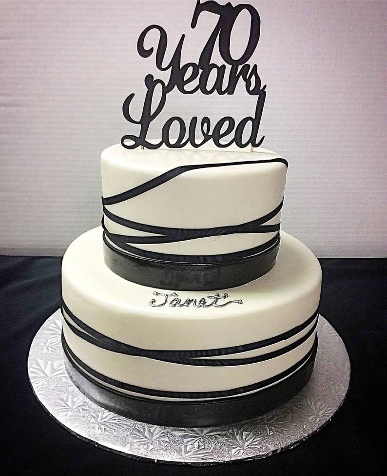 70 Years Loved Birthday Cake Topper 70th