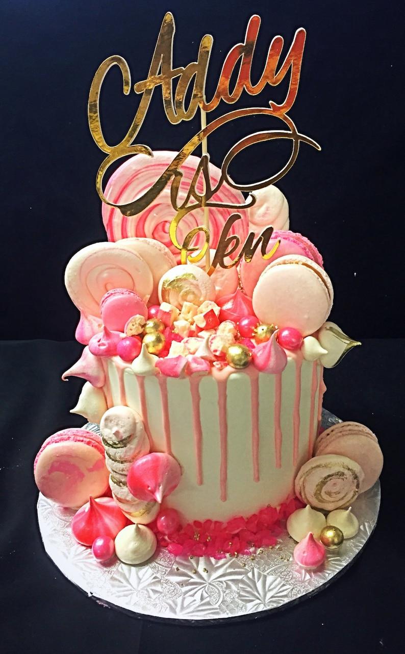 Birthday Cake Topper Custom Name